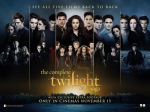 Complete Twilight Saga Movie Poster