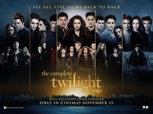 Complete Twilight Saga Movie Poster