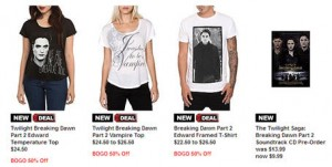 Twilight Breaking Dawn Merchandise at Hot Topic